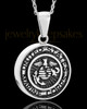 Stainless Military Medallion-Marines Urn Pendant