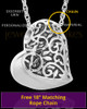 Stainless Intricate Heart Urn Pendant