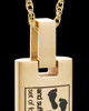 Gold Plated Footprints Cylinder Urn Pendant
