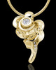 Gold Plated Confident Rose Cremation Urn Pendant