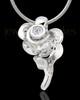 Sterling Silver Confident Rose Cremation Urn Pendant