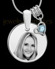 March Photo Engraved Round Pendant Stainless Steel