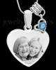 December Stainless Steel Memories Heart-Shaped Photo Engraved Pendant