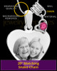 October Stainless Steel Memories Heart-Shaped Photo Engraved Pendant