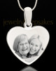 Stainless Steel Memories Heart-Shaped Photo Engraved Pendant