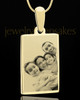 Photo Engraved Gold Plated Over Stainless Rectangle