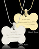 Photo Engraved Bone Pet Pendant Gold Plated