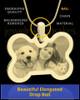 Photo Engraved Bone Pet Pendant Gold Plated