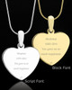 Photo Engraved Heart Pet Pendant Gold Plated over Stainless Steel