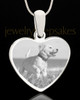 Photo Engraved Heart Pet Pendant Stainless Steel