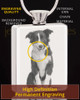 Photo Engraved Rectangle Stainless Steel Pet Cremation Pendant