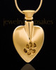 Pet Memorial Jewelry Gold Plated Buddy Heart