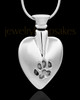 Stainless Steel Heart Memorial Necklace for Beloved Pets