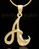 "Gold Plated ""A"" Keepsake Jewelry"