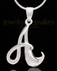 "Sterling Silver ""A"" Keepsake Jewelry"