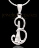 "Sterling Silver ""B"" Keepsake Jewelry"