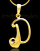 "Gold Plated ""D"" Keepsake Jewelry"