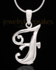 "Silver Plated ""F"" Keepsake Jewelry"