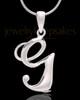 """Sterling Silver """"G"""" Keepsake Jewelry"""