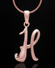 "Rose Gold Plated ""H"" Keepsake Jewelry"