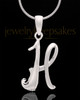 "Silver Plated ""H"" Keepsake Jewelry"