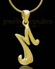 "Gold Plated ""M"" Keepsake Jewelry"