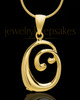 "Gold Plated ""O"" Keepsake Jewelry"