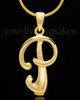 "Gold Plated ""P"" Keepsake Jewelry"
