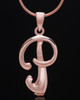 "Rose Gold Plated ""P"" Keepsake Jewelry"