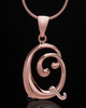 "Rose Gold Plated ""Q"" Keepsake Jewelry"