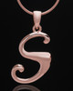 "Rose Gold Plated ""S"" Keepsake Jewelry"