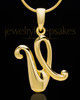 "Gold Plated ""U"" Keepsake Jewelry"