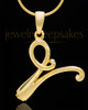 "Gold Plated ""V"" Keepsake Jewelry"