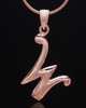 "Rose Gold Plated ""W"" Keepsake Jewelry"