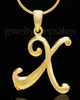 "Gold Plated ""X"" Keepsake Jewelry"