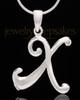 "Silver Plated ""X"" Keepsake Jewelry"