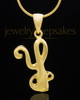 "Gold Plated ""Y"" Keepsake Jewelry"