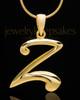 """Gold Plated """"Z"""" Keepsake Jewelry"""