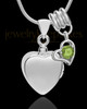 Sterling Silver Gentle Heart August Urn Pendant
