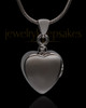 Black Plated Gentle Heart Urn Pendant