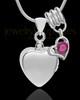 Sterling Silver Gentle Heart July Urn Pendant