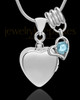 Sterling Silver Gentle Heart March Urn Pendant