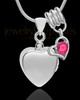 Sterling Silver Gentle Heart October Urn Pendant