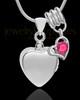 Sterling Silver Gentle Heart October Urn Pendant
