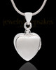 Sterling Silver Gentle Heart Urn Pendant