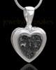 Silver Plated Lattice Heart Keepsake Jewelry