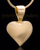 Gold Plated Bursting Heart Keepsake Jewelry