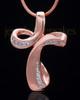 Rose Gold Plated Fluid Cross Keepsake Jewelry
