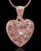 Rose Gold Plated Noble Heart Keepsake Jewelry