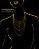 Black Plated Heart Trio Keepsake Jewelry